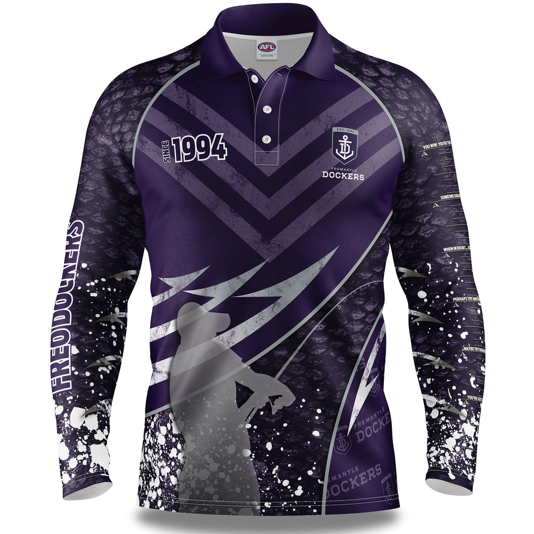 Fremantle Dockers Fishing Shirt Front