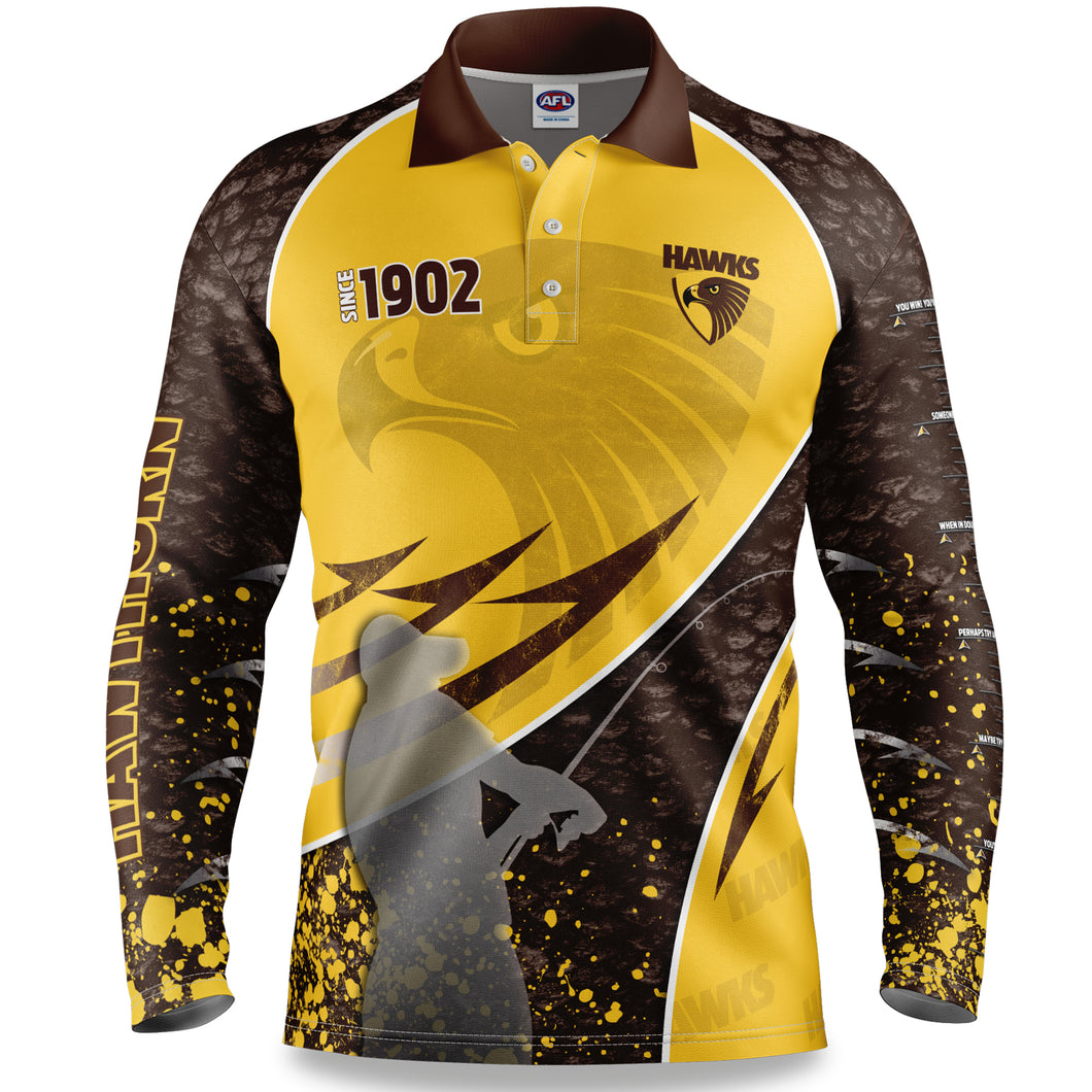 Hawthorn Hawks Fishing Shirt Front