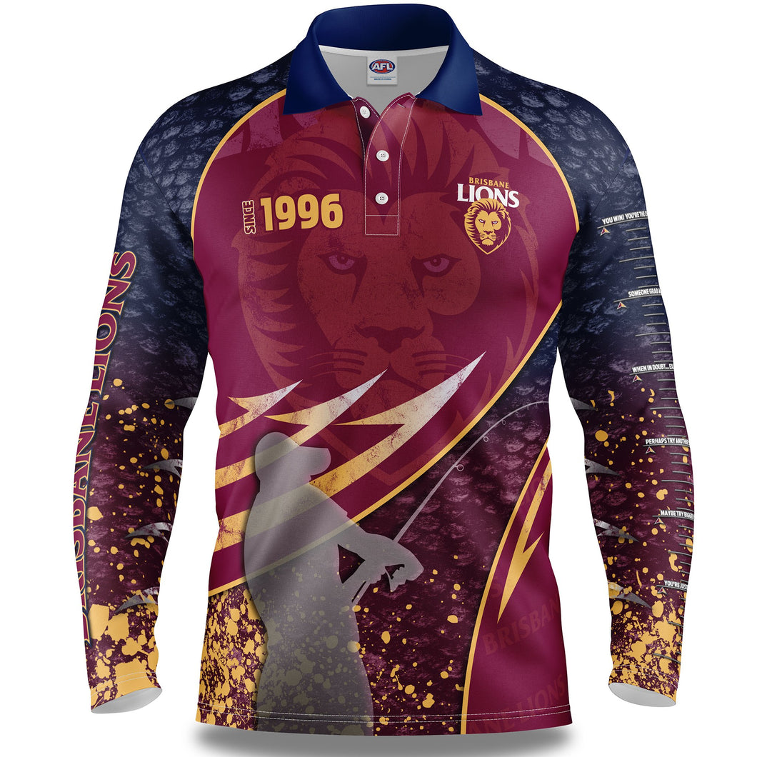 Brisbane Lions Fishing Shirt Front