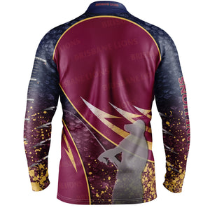 Brisbane Lions Fishing Shirt Back