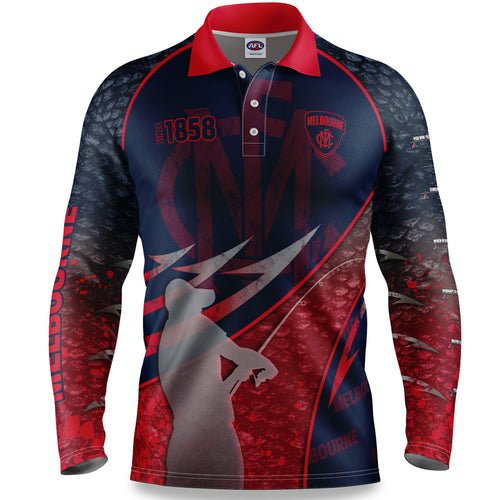 Melbourne Demons Fishing Shirt Front