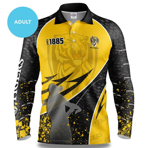 Richmond Tigers Fishing Shirt Front