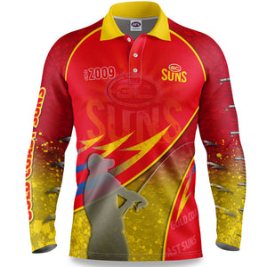 Gold Coast Suns Fishing Shirt Front
