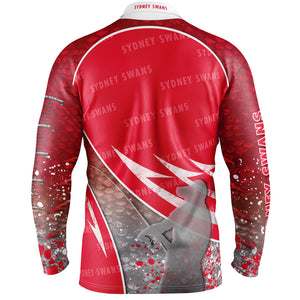 Sydney Swans Fishing Shirt Back