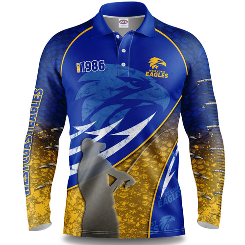 West Coast Eagles AFL Fishing Shirt