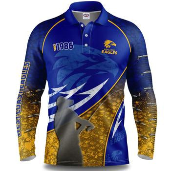 AFL West Coast Eagles Fishing Shirt