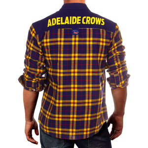 AFL Flannel Shirt Adelaide Crows Back
