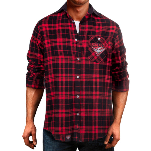 AFL Flannel Shirt Essendon Front