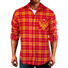 AFL Flannel Shirt Gold Cost Suns Front