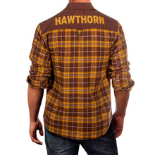 AFL Flannel Shirt Hawthorn Hawks Back