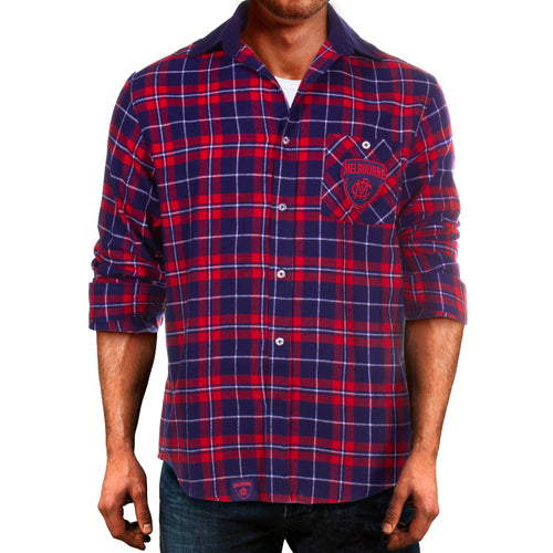 AFL Flannel Shirt Melbourne Demon Front