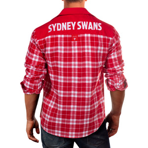 AFL Flannel Shirt Sydney Swans Back