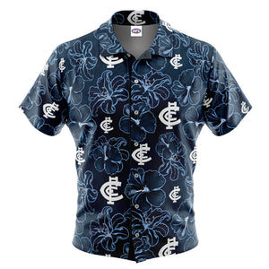 AFL Carlton 'Floral' Hawaiian Shirt