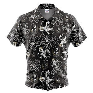 AFL Collingwood 'Floral' Hawaiian Shirt