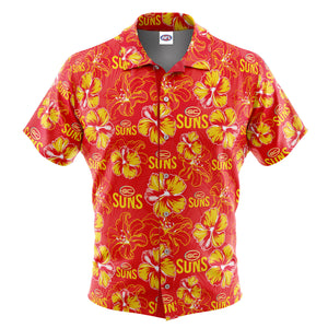 AFL Gold Coast Suns 'Floral' Hawaiian Shirt