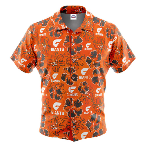 AFL GWS Giants 'Floral' Hawaiian Shirt