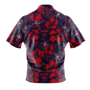 AFL Melbourne Demons 'Floral' Hawaiian Shirt