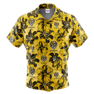 AFL Richmond Tigers 'Floral' Hawaiian Shirt