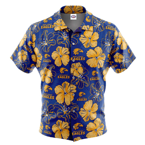 AFL West Coast Eagles 'Floral' Hawaiian Shirt