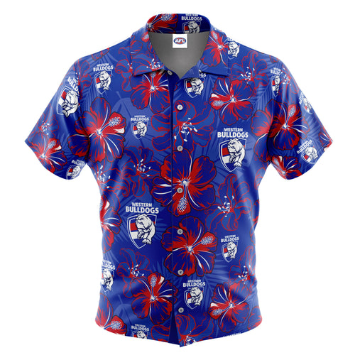 AFL Western Bulldogs 'Floral' Hawaiian Shirt