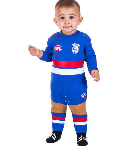 AFL Western Bulldogs Baby Footysuit