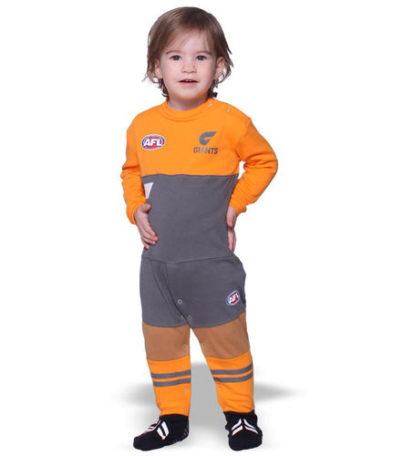 AFL GWS Giants Baby Footysuit