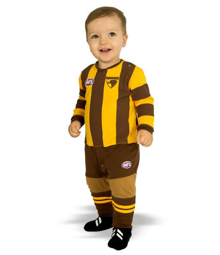AFL Hawthorn Baby Footysuit