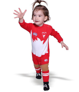 AFL Sydney Swans Baby Footysuit