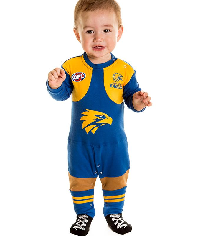AFL West Coast Eagles Baby Footysuit