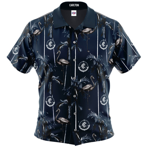 Carlton Blues Hawaiian Shirt Front