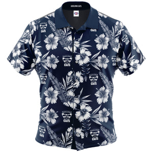 Geelong Cats Hawaiian Shirt Front