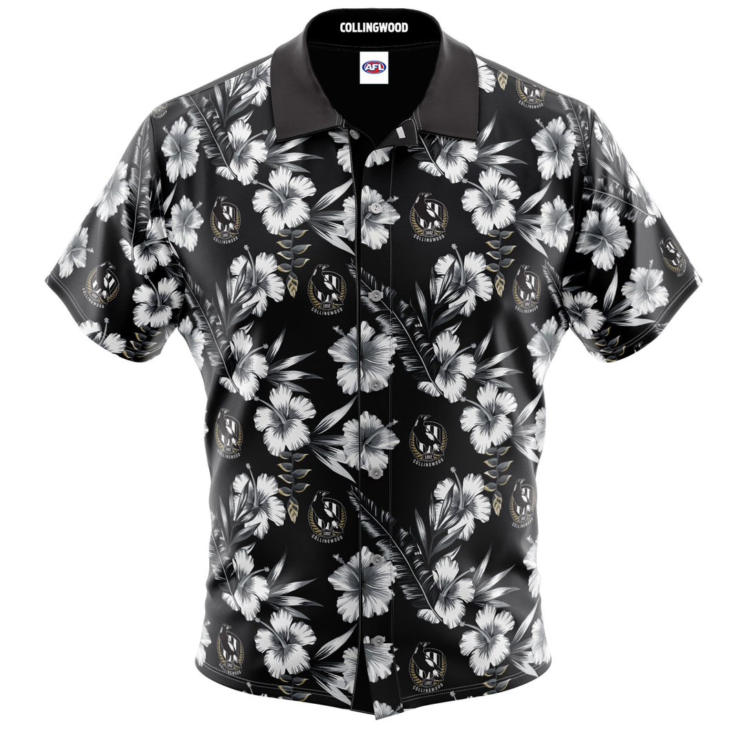Collingwood Magpies Hawaiian Shirt Front