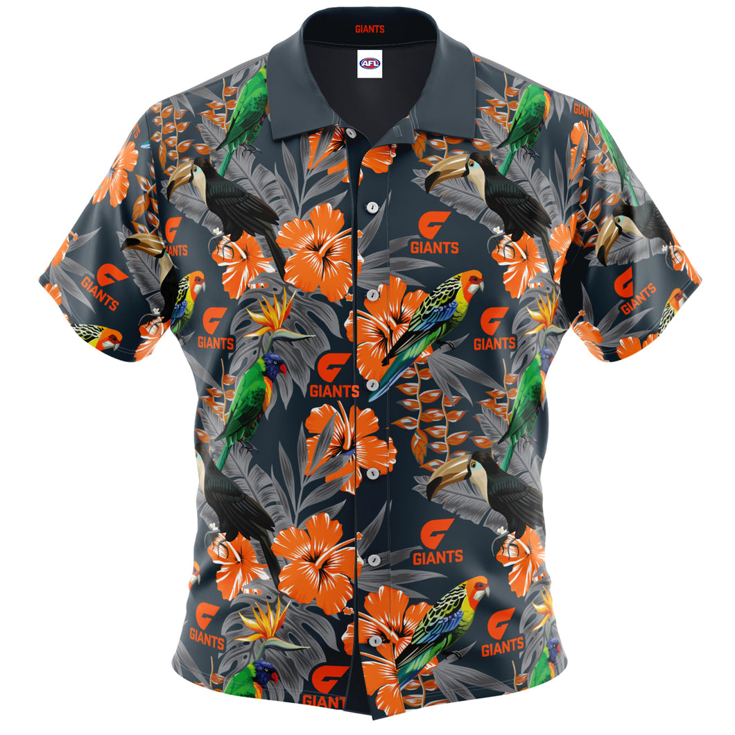 GWS Giants Hawaiian Shirt Front