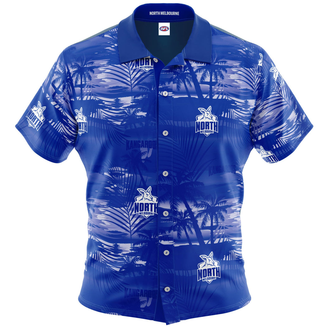 North Melbourne Kangaroos Hawaiian Shirt Front