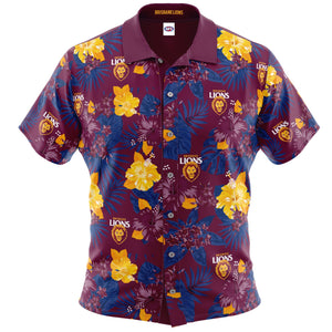 Brisbane Lions Hawaiian Shirt Front