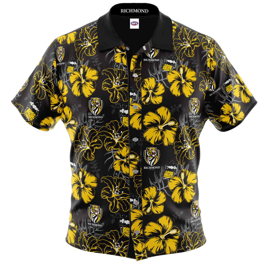 Richmond Tigers Hawaiian Shirt Front