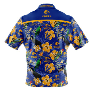 West Coast Eagles Hawaiian Shirt Back