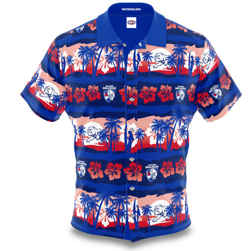 Western Bulldogs Hawaiian Shirt Front