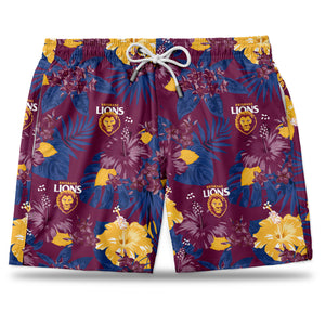AFL Brisbane Lions Hawaiian Shorts