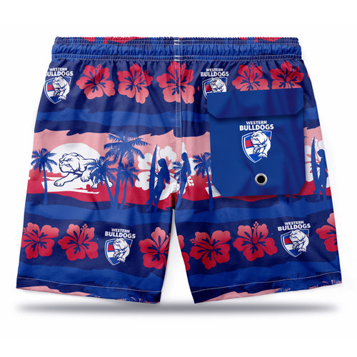 AFL Western Bulldogs Hawaiian Shorts