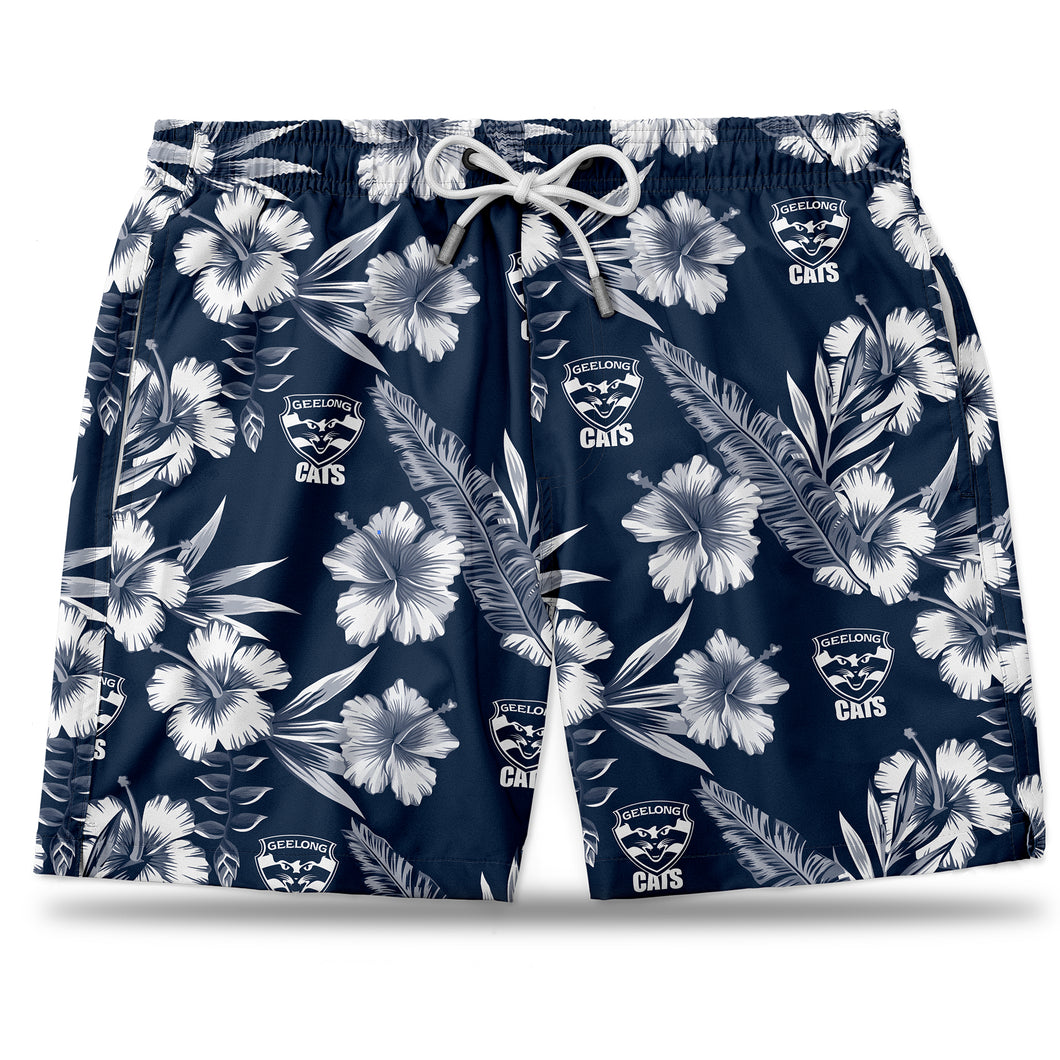 AFL Geelong Cats Hawaiian Shorts
