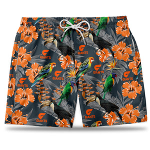 AFL GWS Hawaiian Shorts