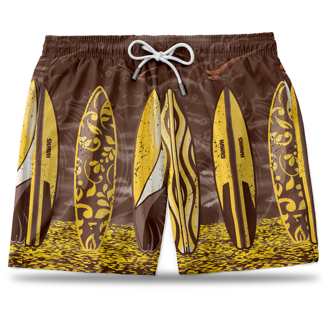 AFL Hawthorn Hawaiian Shorts