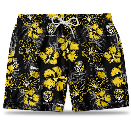 AFL Richmond Tigers Hawaiian Shorts