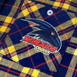 AFL Flannel Shirt Logo Adelaide Crows