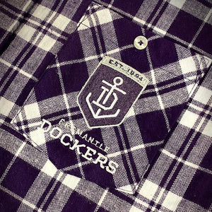 AFL Flannel Shirt Logo Fremantle Dockers