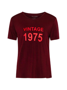 Addison T-shirt - Bordeaux