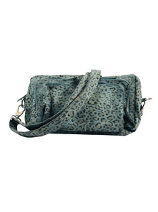 Rock Zipped Bag Leo Denim
