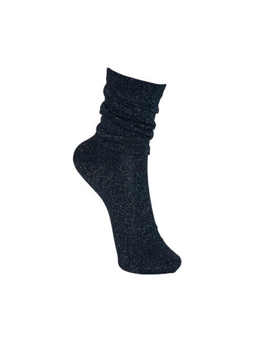 Lurex Sock Navy
