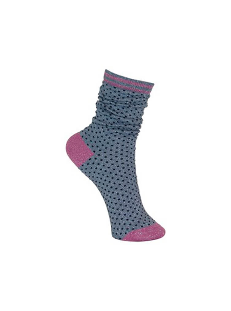 Lolly Dot Sock Pink